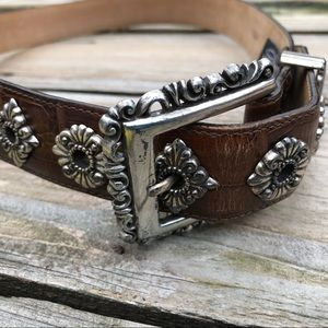 Brighton brown leather belt - women's sz large